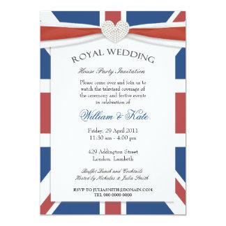 Invitaciones reales del fiesta del reloj del boda invitacion personalizada