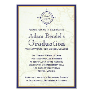 """Invitaciones reales formales de la graduación del invitación 5"""" x 7"""""""