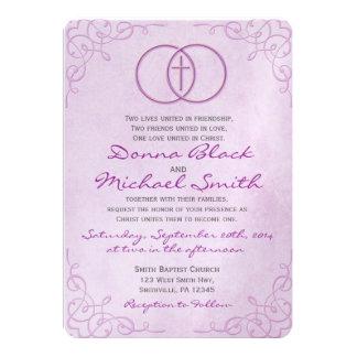 Invitaciones religiosas cruzadas cercadas del boda invitación personalizada