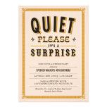 Invitaciones reservadas del fiesta de sorpresa del invitacion personalizada