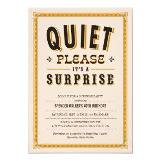 Invitaciones reservadas del fiesta de sorpresa del invitación 12,7 x 17,8 cm
