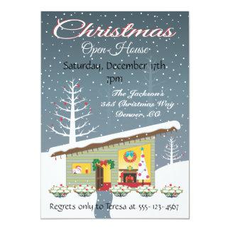 Invitaciones retras de la casa abierta del navidad comunicado personal
