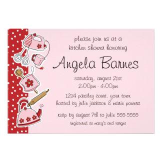Invitaciones retras de la ducha del boda de la coc invitación personalizada