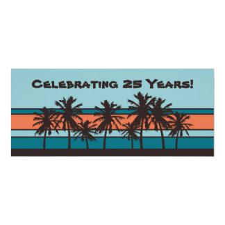Invitaciones retras de la fiesta de aniversario de invitación 10,1 x 23,5 cm