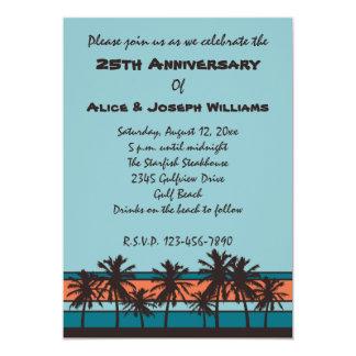 Invitaciones retras de la fiesta de aniversario de invitación 12,7 x 17,8 cm