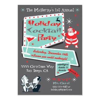 Invitaciones retras de la fiesta de Navidad del Invitación 12,7 X 17,8 Cm