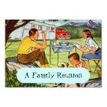 Invitaciones retras de la reunión de familia del invitacion personalizada