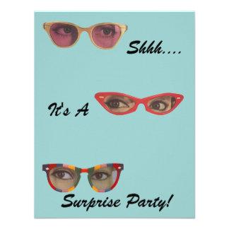 Invitaciones retras de la sorpresa del fiesta de l invitación personalizada