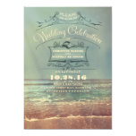 Invitaciones retras del boda de playa - paisaje anuncio personalizado