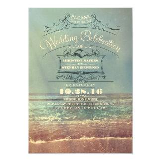 """Invitaciones retras del boda de playa - paisaje invitación 5"""" x 7"""""""