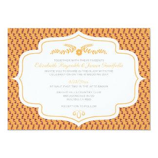 Invitaciones retras del boda del otoño invitacion personal