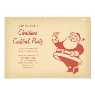Invitaciones retras del cóctel del navidad invitación 12,7 x 17,8 cm