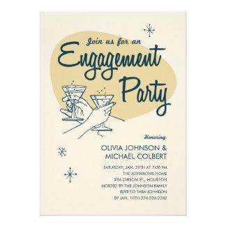 Invitaciones retras del fiesta de compromiso