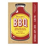 Invitaciones retras del fiesta de la salsa del Bbq Invitación 12,7 X 17,8 Cm