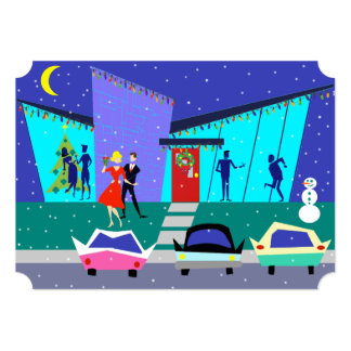 """Invitaciones retras del fiesta del dibujo animado invitación 5"""" x 7"""""""