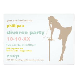 Invitaciones retras del fiesta del divorcio invitaciones personalizada