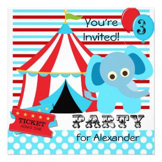 Invitaciones rojas blancas y azules del cumpleañ invitacion personalizada