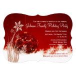 Invitaciones rojas de la celebración de días invitación