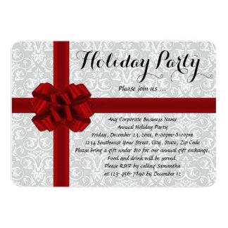 Invitaciones rojas de la celebración de días anuncio personalizado
