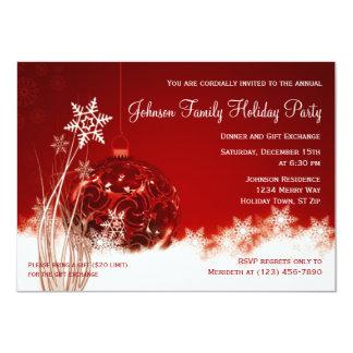 Invitaciones rojas de la celebración de días invitación 11,4 x 15,8 cm