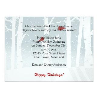 Invitaciones rojas de la celebración de días festi invitaciones personalizada