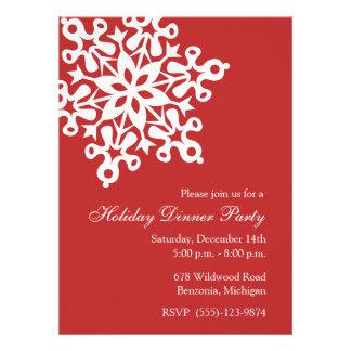 Invitaciones rojas de la celebración de días festi comunicados personalizados