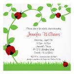Invitaciones rojas de la fiesta de bienvenida al b invitación personalizada