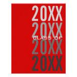 invitaciones rojas de la fiesta de graduación 20XX Comunicado Personalizado