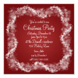 Invitaciones rojas de la fiesta de Navidad Comunicados Personales