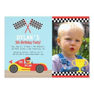 """Invitaciones rojas de la foto de la fiesta de invitación 4.5"""" x 6.25"""""""