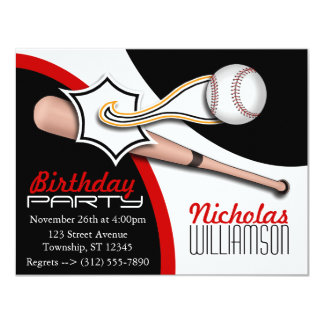 Invitaciones rojas de moda del cumpleaños del invitaciones personalizada