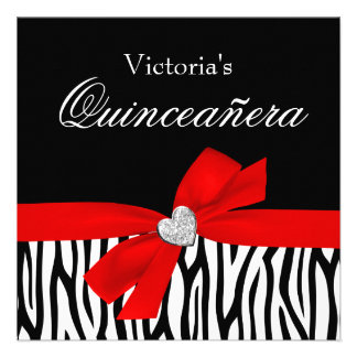 Invitaciones rojas de Quinceanera del diamante del Invitación Personalizada