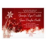 Invitaciones rojas del boda del día de fiesta del anuncios