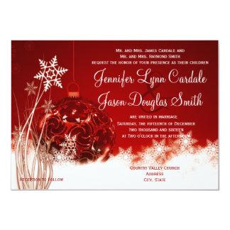 Invitaciones rojas del boda del día de fiesta del invitación 11,4 x 15,8 cm
