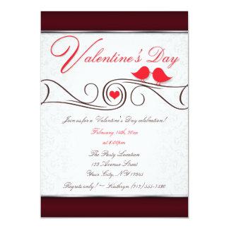Invitaciones rojas del el día de San Valentín del Invitación 12,7 X 17,8 Cm