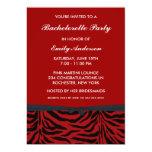 Invitaciones rojas del fiesta de Bachelorette de Invitación 12,7 X 17,8 Cm