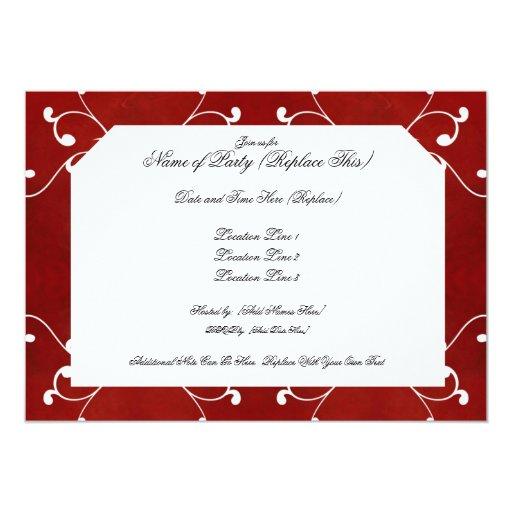 Invitaciones rojas elegantes de encargo del día de invitación 12,7 x 17,8 cm