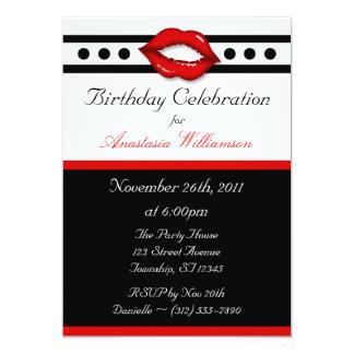 Invitaciones rojas fabulosas del cumpleaños del anuncio