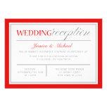Invitaciones rojas y grises modernas de la recepci anuncio personalizado