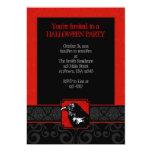 Invitaciones rojas y negras de A7 del cuervo del Anuncios