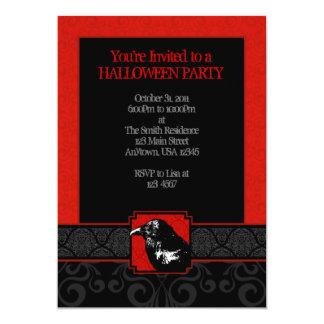 Invitaciones rojas y negras de A7 del cuervo del Invitación 12,7 X 17,8 Cm