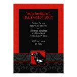 Invitaciones rojas y negras de A7 del cuervo del d Anuncios