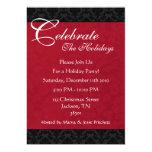 Invitaciones rojas y negras de la celebración de invitación 12,7 x 17,8 cm