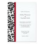 Invitaciones rojas y negras del boda del damasco anuncio