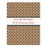 Invitaciones rojas y verdes del navidad de los lun invitacion personal