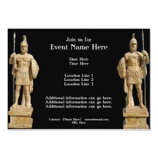 """Invitaciones romanas de las estatuas invitación 5"""" x 7"""""""
