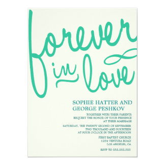 Invitaciones románticas del boda del trullo invitación 13,9 x 19,0 cm