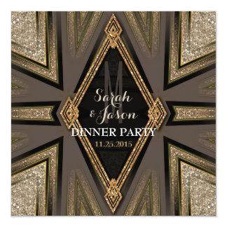 Invitaciones románticas del fiesta de cena de invitación 13,3 cm x 13,3cm