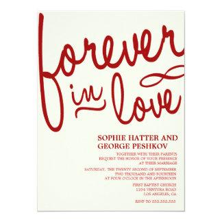 Invitaciones románticas rojas del boda invitación 13,9 x 19,0 cm