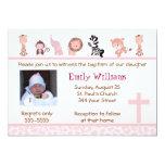 Invitaciones rosadas adorables lindas 5x7 del invitacion personalizada